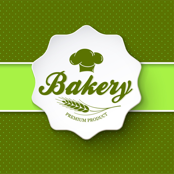 bakery menu with green spots background