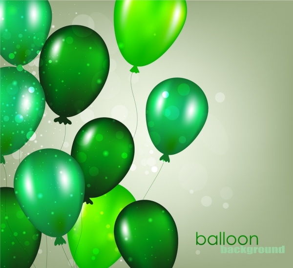 balloon background shiny green decoration