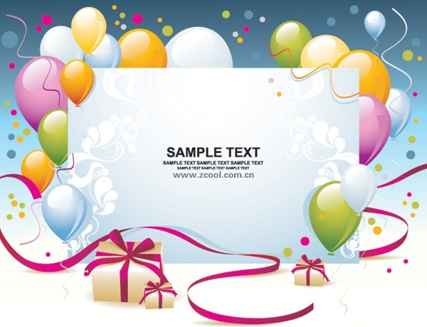 Balloon Gift Card Background Vector Free Vector In Encapsulated