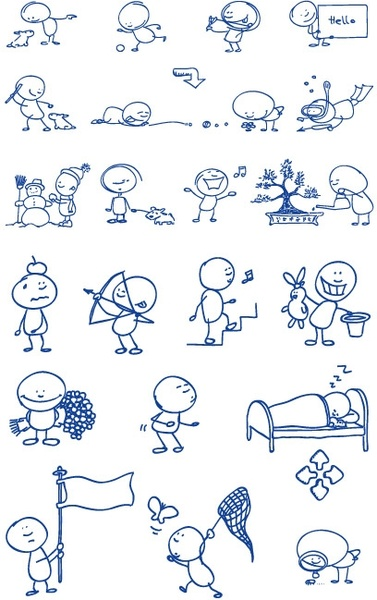 ballpoint pen drawing cartoon vector clip 2