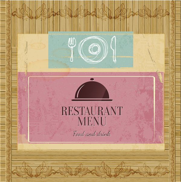 bamboo pattern restaurant menu cover