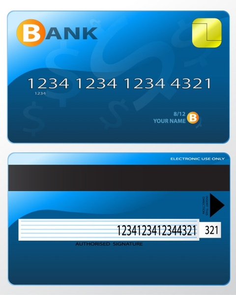 bank card fine 04 vector