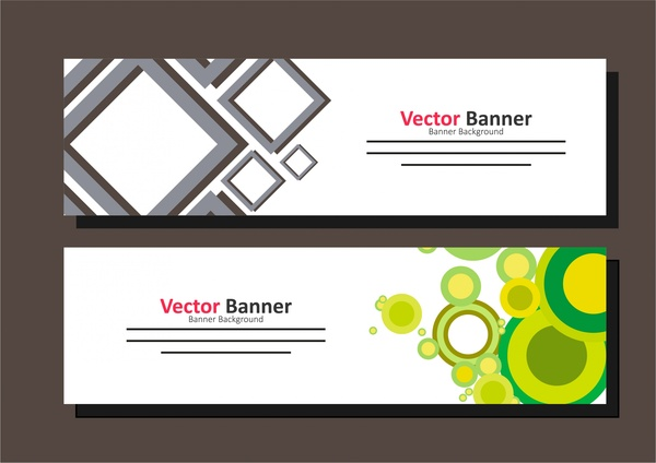 banner template design colorful geometric design free vector in