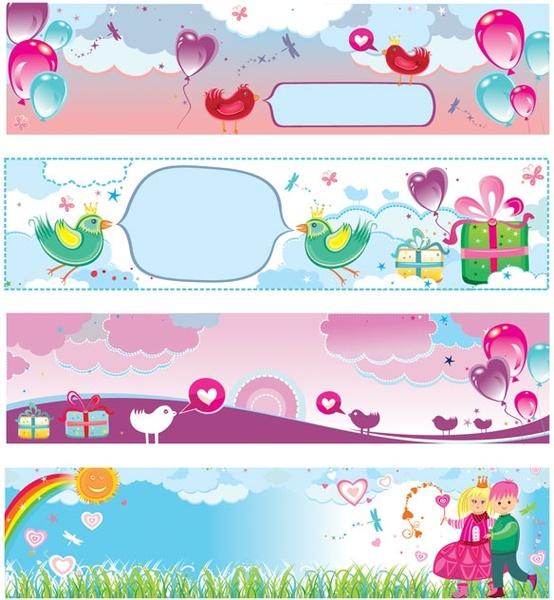 banner vector cute valentine day