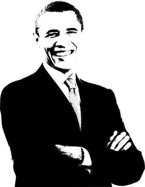 barack obama clip art free vector in open office drawing svg svg