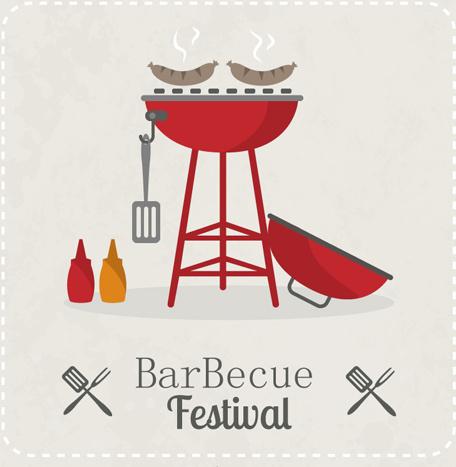 barbecue festival poster vector design