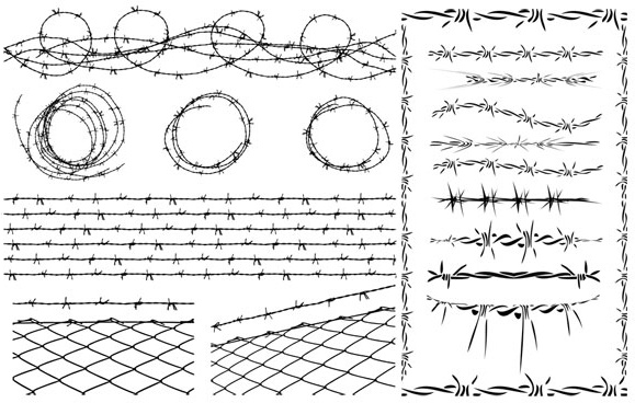 Barbed wire vector Free vector in Encapsulated PostScript eps ( .eps ...