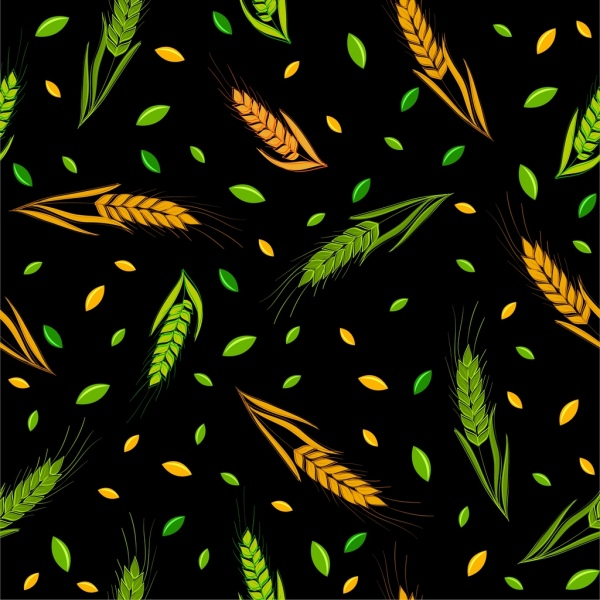 barley background yellow green decor repeating style