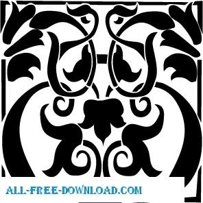 Baroc patern stencil free Free vector in Acrobat reader pdf