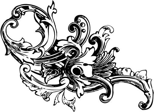 Baroque ornament vectors vol1 free vector in adobe illustrator ai.