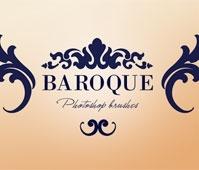Baroque ornaments Photoshop brushes
