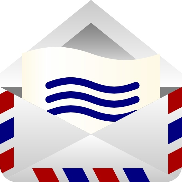 barretr air mail envelope clip art free vector in open office