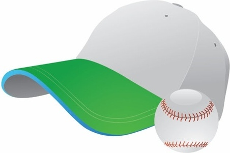 Baseball and Cap Vector Graphic