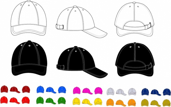 baseball cap free vector in adobe illustrator ai ai