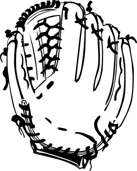 baseball glove b and w clip art free vector in open office drawing rh all free download com  baseball mitt clipart black and white