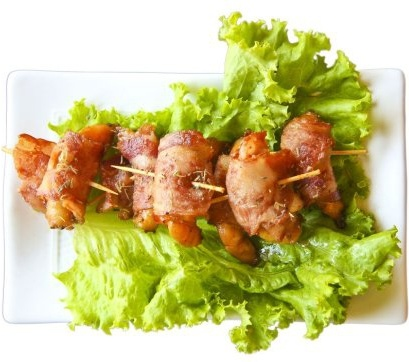 basil bacon shrimp rolls transparent png format highdefinition picture