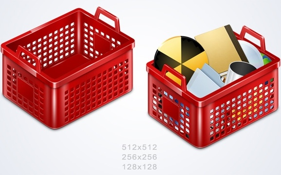 Basket Icons icons pack