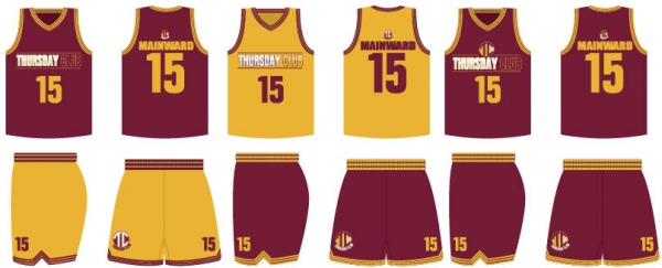 Basketball Uniform Maroon