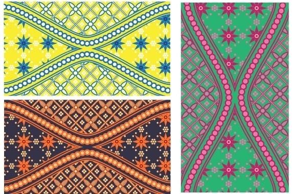 vector batik design free vector download 12 free vector