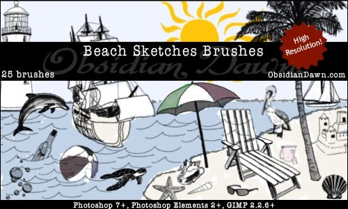 Beach Sketch Brushes