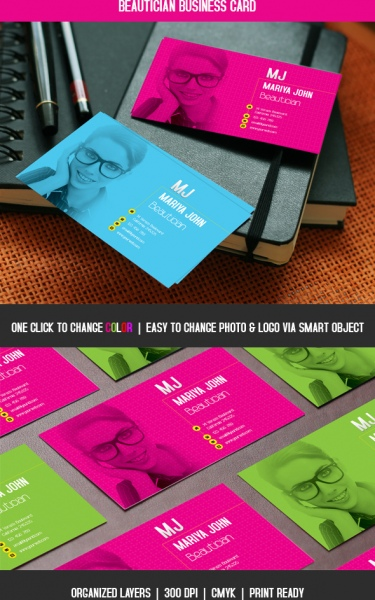 Beautician business card free psd in photoshop psd d format beautician business card free psd 407mb colourmoves