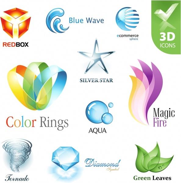 logo design elements multicolored modern shapes