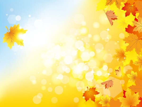 Beautiful Autumn Background 05 Vector Free Vector In