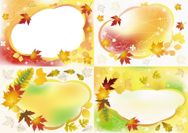 beautiful autumn photo frame vector