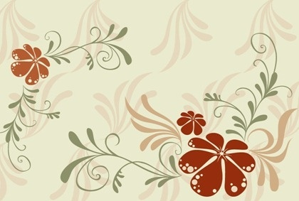Beautiful background pattern vector material Series 1