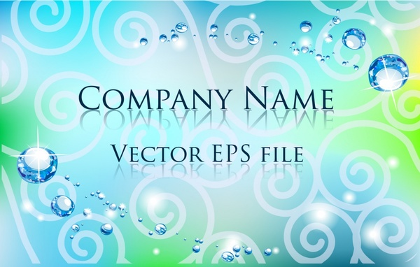 business card background modern gorgeous water droplets decor
