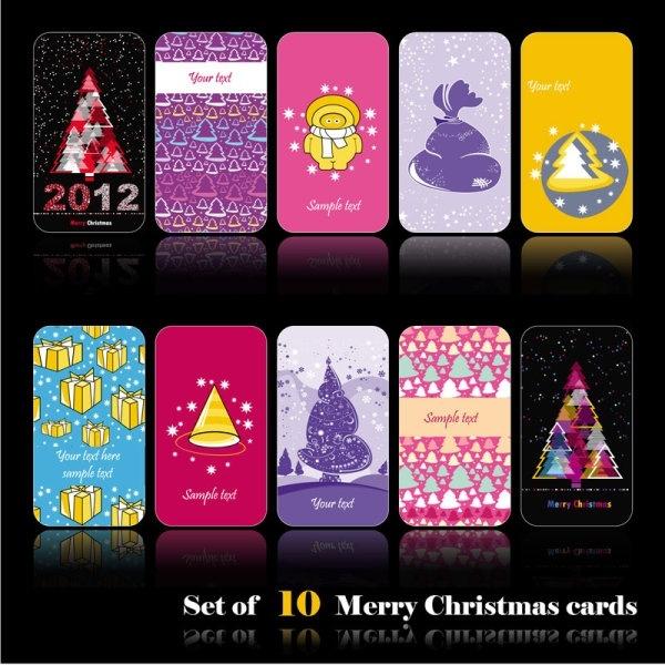 beautiful cartoon christmas card vector