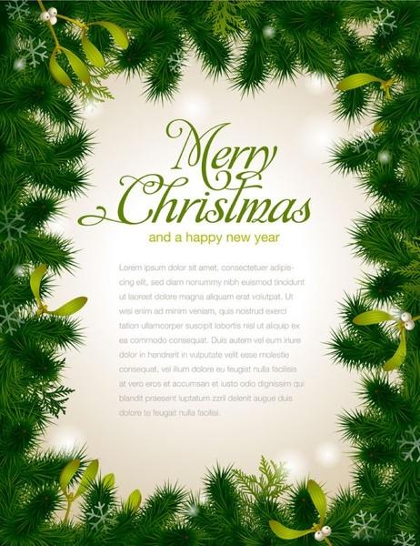 Beautiful Christmas Background Design.Beautiful Christmas Background Borders 01 Vector Free Vector