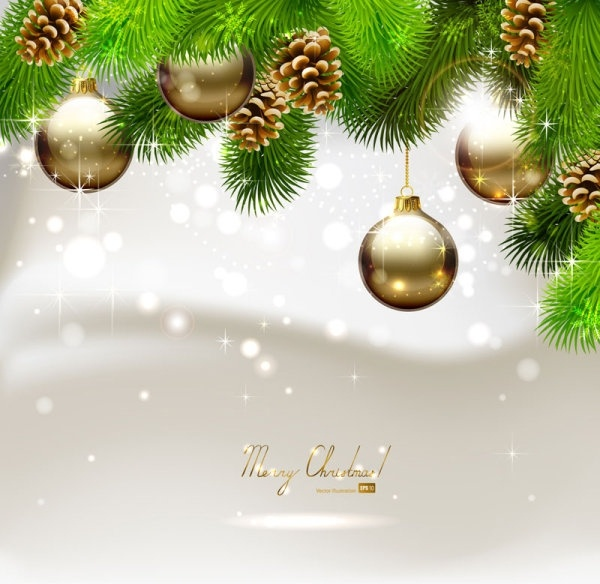 beautiful christmas ball background 03 vector