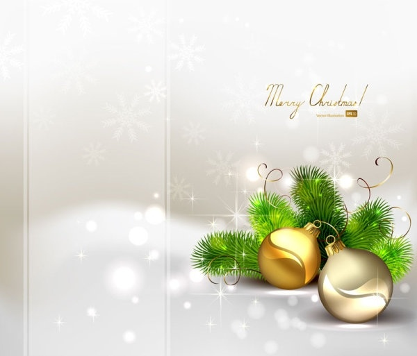 beautiful christmas ball background 04 vector