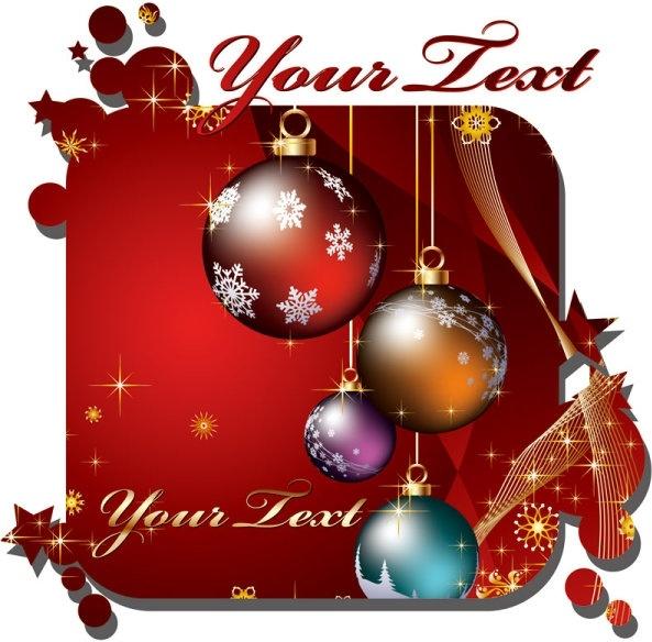 beautiful christmas cards vector - Beautiful Christmas Cards