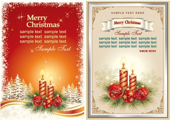beautiful christmas cards vector