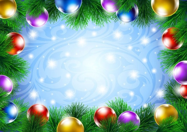 Christmas Ornament Background.Beautiful Christmas Decoration Background 04 Vector Free