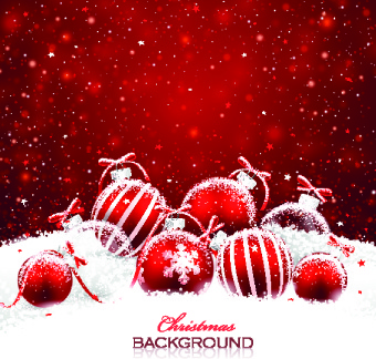 beautiful christmas red background vector