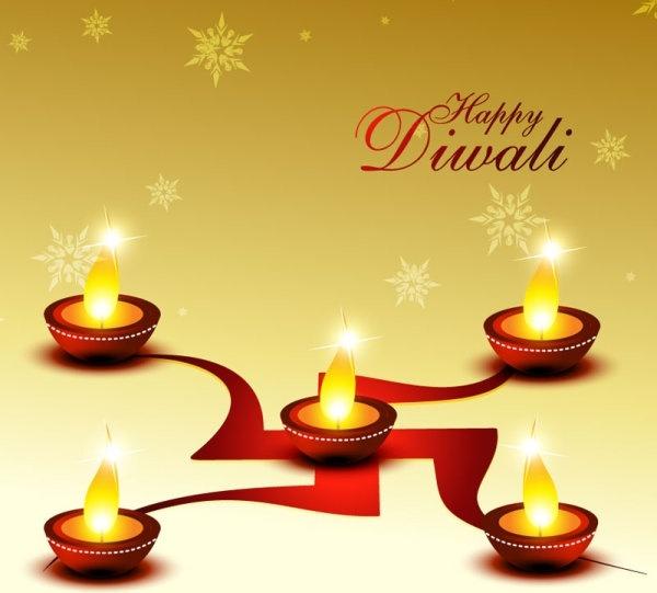 beautiful diwali cards 01 vector free vector in