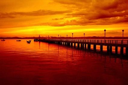 beautiful evening pier picture