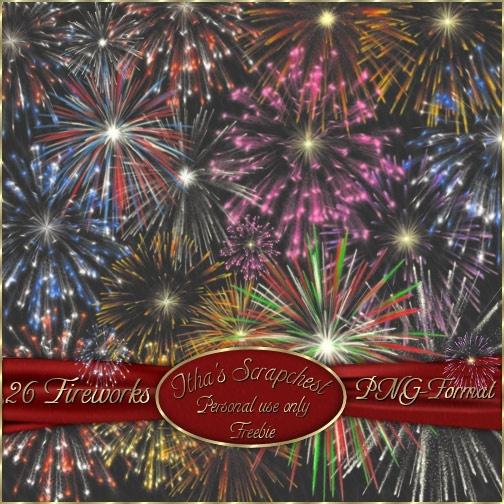 beautiful fireworks psd