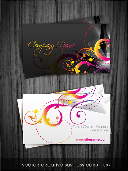 beautiful floral business cards vectors