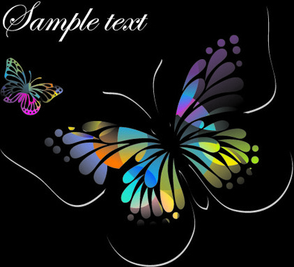 beautiful floral butterfly creative background art