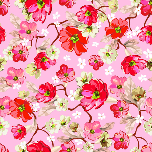 Beautiful Floral Patterns Vector Ser Free Vector In Encapsulated Extraordinary Floral Patterns