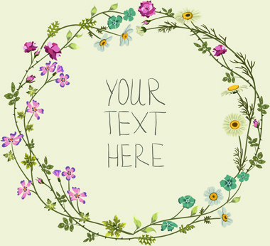 Beautiful Flower Frames With Vintage Background Free