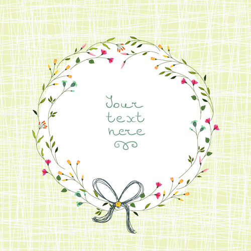 beautiful flower frames with vintage background