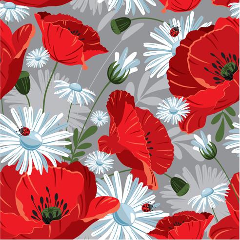 beautiful flower pattern mix vector