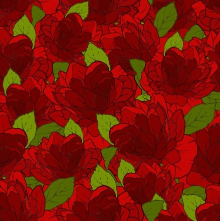 beautiful flowers seamless pattern art vector