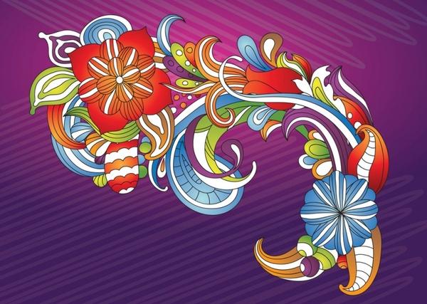 Beautiful Flowers Vector Art