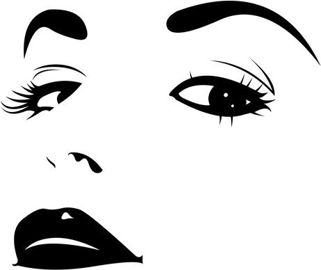 Sad Girl Face Outline Clip Free Vector Download 30 966